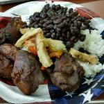 Black Beans and Rice, Chicken, Pork, and Plantains