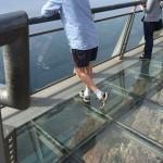 Glass floor - OMG - 580m down