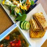 We have different special paninis, soups, and salads each day.