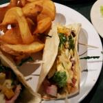 A small taste of the Bistro style dining available. Seared Ahi tacos and gluten free chips
