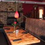 Wine menu, warm ambiance