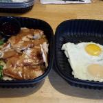 Turkey dinner and eggs