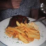 Rack of ribs, home made coleslaw, nice chips.