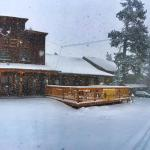 """The Timbers on Cuchara's """"Main"""" street on a winter day."""