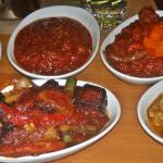 Okra, Eggplant, African Curry, Egusi Stew and Lamb Tangine