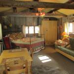 Interior of Creekside Cabin