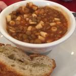 Delicious lentil pasta soup