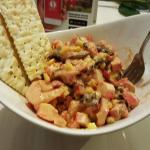 Ceviche de camarón y palmitos