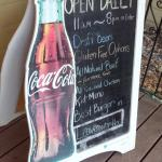 Daily open schedule board on the porch