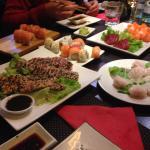ravioli, sushi, sashimi, tonno scottato...