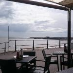 The view from the Ocean View restaurant in Lyme Regis
