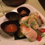 Vietnamese salad rolls tris