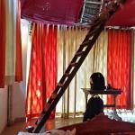 Bedroom with mezzanine floor