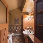 Inside the bathroom!