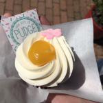 a Pudge's cupcake (lemon)