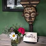We set up our own MISSION (to breathe!) at the breakfast table. Lovely African art and decoratio