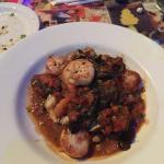 Shrimp and scallops with grits