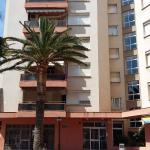 View of main entrance of Danubio building in Salou (apartments)