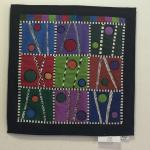 Patti Zwick quilt on the wall, nice