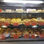The impressive array of home baked tarts