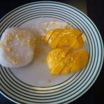 "Delicious Dessert "" Coconut Sticky Rice with Mango"""