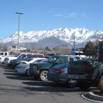 This is a view from the hotel. Including parking lot & IHOP shows HOW CLOSE those mountains are!