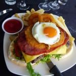 Open Boatshed burger Delicious and very filling