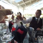 Wedding celebration at the Boat shed
