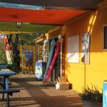 Dive Shop is attached to the restaurant