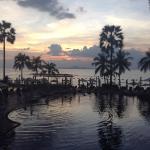 View to the beach club bar
