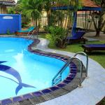 Serendib Guest House Main Pool & Garden View