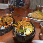 Shrimp and Chicken tikka.