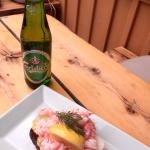 The lunch - mmmmm....I love Sweden - and danish beer!