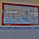 Predominant use of Blue & White Tiles for decoration