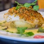 Fillet of Hake with Crab Meat Crust
