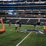 Touring AT&T Stadium is like no other stadium in the country, you can get on the field the big b