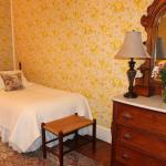 The Lightfoot & Hill includes private bath and shower.  This is the smaller of the two beds