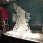Ice sculpture on gala night