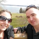 A beautiful day for wine and bacon!