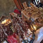 Christmas gingerbread house presentation