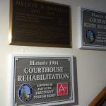 Courthouse rehabilitation plaques