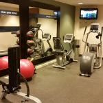 Gym has the basics, including large wall length mirror and TV for your viewing pleasure.
