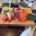 Delicious sashimi plate at Kinkaku Sushi in Pigeon Forge