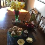 Self catering guests have a complimentary cream tea