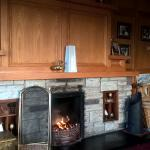 Wonderful warm lounge with coal fired fireplace