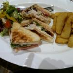 Lovely sandwiches at The Hotel Rudyard. Lovely pub which has recently undergone renovation. The