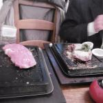 STEAK IN HOT STONE- ( cooked by you ) mature SIRLOIN-