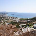 View from old Kefalos Village to Agios Stefanos and Kastri Island