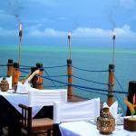 """La terrazza del ristorante """"Il Pontile"""""""