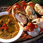 Crabs at Escritório restaurante, Recife, Brazil.